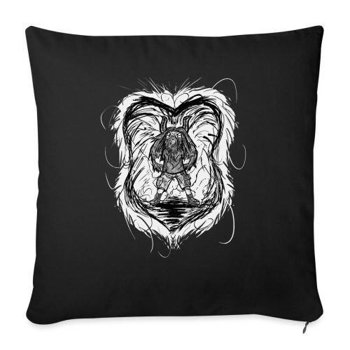 Horned Metalhead - Sofa pillow with filling 45cm x 45cm