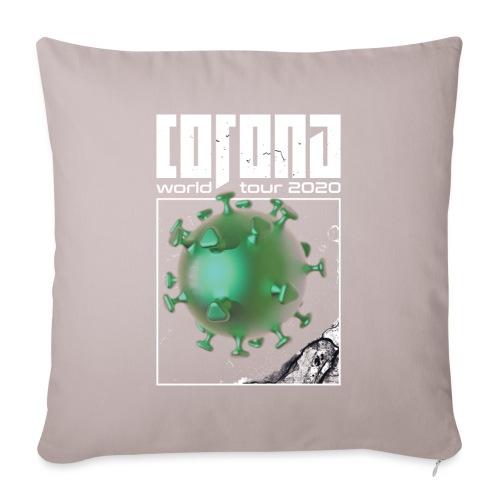 Corona World Tour 2020 | Coronavirus - Sofa pillow with filling 45cm x 45cm
