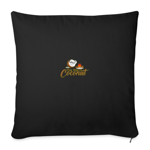 The warm coconut campfire - Sofa pillow with filling 45cm x 45cm
