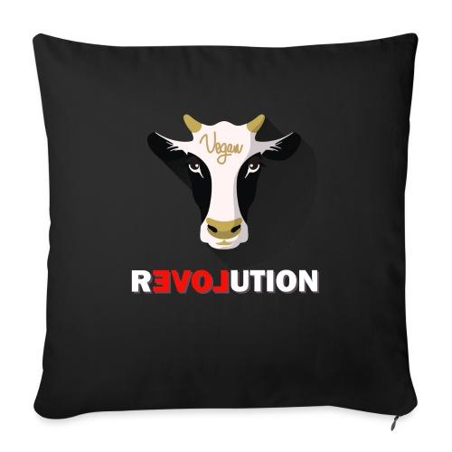 Vegan Revolution - Coussin et housse de 45 x 45 cm