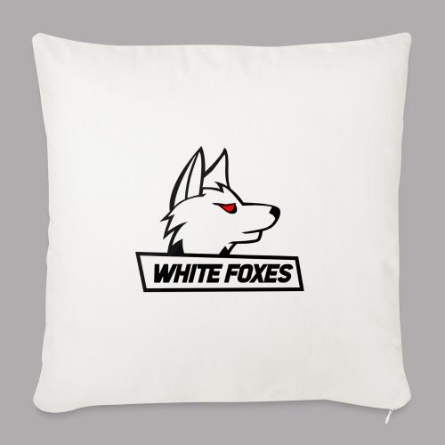 logo white foxes - Coussin et housse de 45 x 45 cm