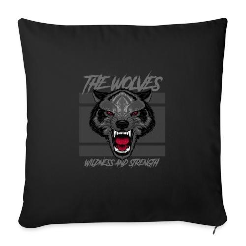 Boze wolf design - Bankkussen met vulling 44 x 44 cm