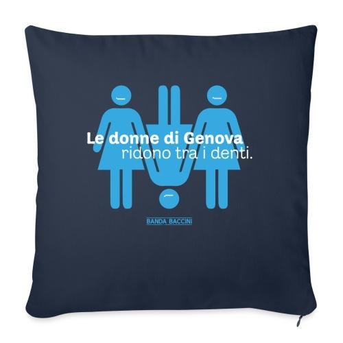 Le donne di Genova. - Cuscino da divano 44 x 44 cm con riempimento