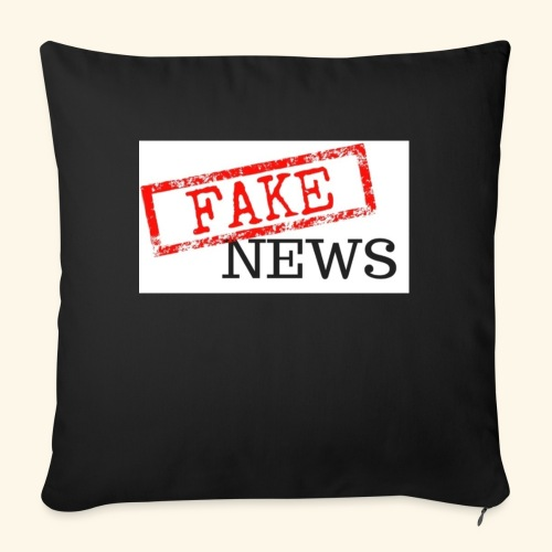fake news - Sofa pillow with filling 45cm x 45cm