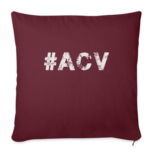 #ACV Logo grau - Sofakissen mit Füllung 44 x 44 cm