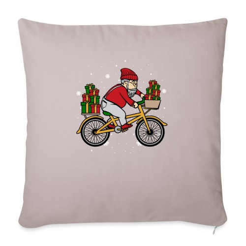Winter Cyclist - Sofa pillow with filling 45cm x 45cm