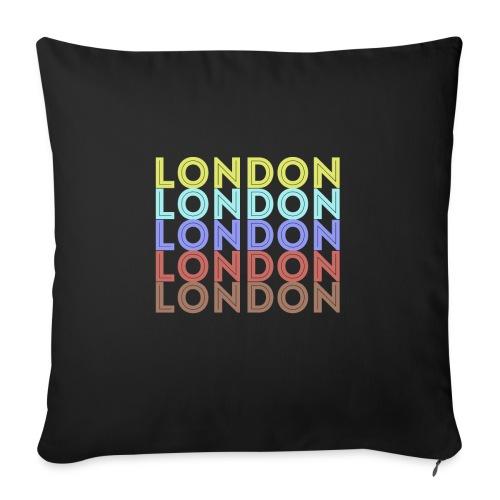 Vintage London Souvenir - Retro London - Sofakissen mit Füllung 44 x 44 cm