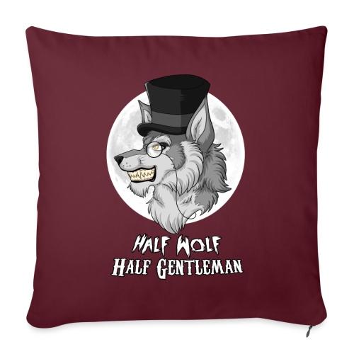 Half Wolf Half Gentleman - Poduszka na kanapę z wkładem 44 x 44 cm