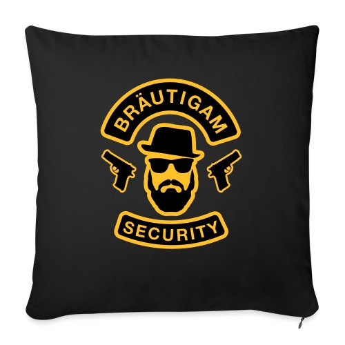 Bräutigam Security - JGA T-Shirt - Bräutigam Shirt - Sofakissen mit Füllung 44 x 44 cm