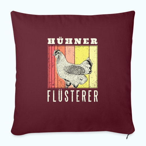 Retro chicken drawing - Sofa pillow with filling 45cm x 45cm