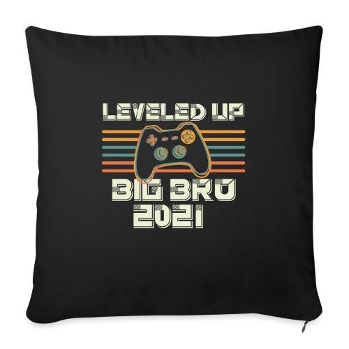 Leveled up to Big Brother 2021 - Sofakissen mit Füllung 44 x 44 cm