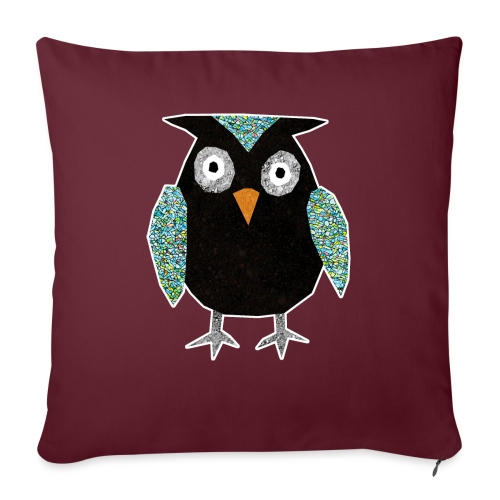 Collage mosaic owl - Sofa pillow with filling 45cm x 45cm