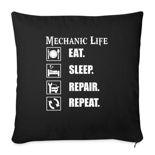 Das Leben als Mechaniker ist hart! Witziges Design - Sofakissen mit Füllung 44 x 44 cm