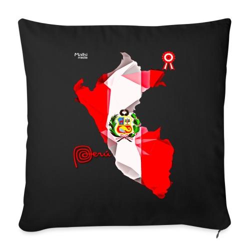 Mapa del Peru, Bandera y Escarapela - Sofa pillow with filling 45cm x 45cm