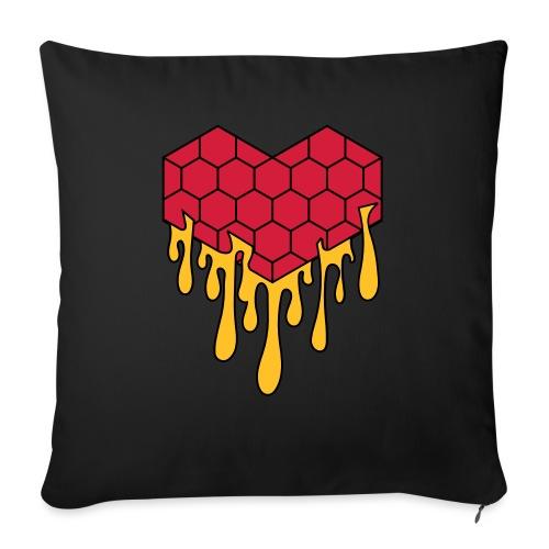 Honey heart cuore miele radeo - Cuscino da divano 44 x 44 cm con riempimento