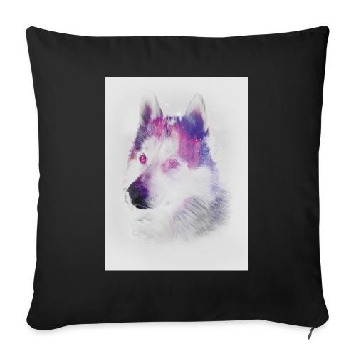Pies husky - Poduszka na kanapę z wkładem 44 x 44 cm