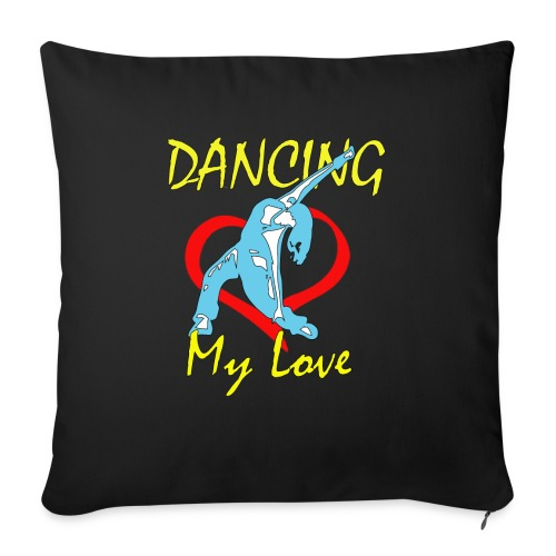 Dancing my Love HBlau - Sofakissen mit Füllung 44 x 44 cm
