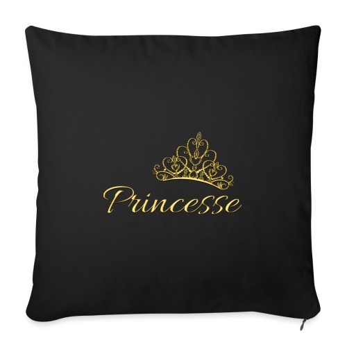 Princesse Or - by T-shirt chic et choc - Coussin et housse de 45 x 45 cm