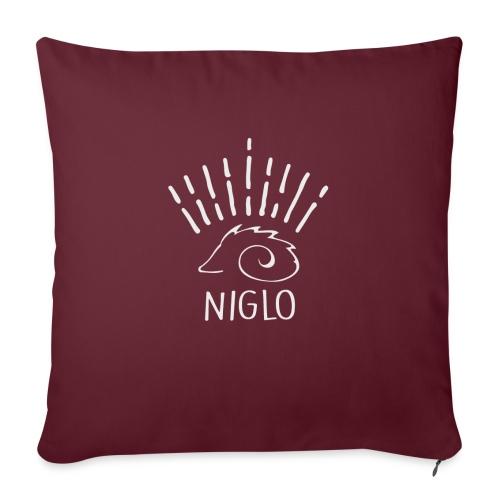 niglo king gris hérisson - Coussin et housse de 45 x 45 cm