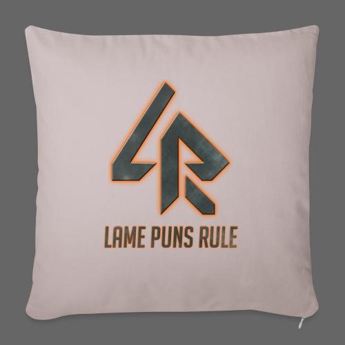 Lame Puns Rule: Logo - Sofa pillow with filling 45cm x 45cm