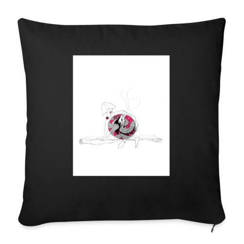 red lady - Sofa pillow with filling 45cm x 45cm