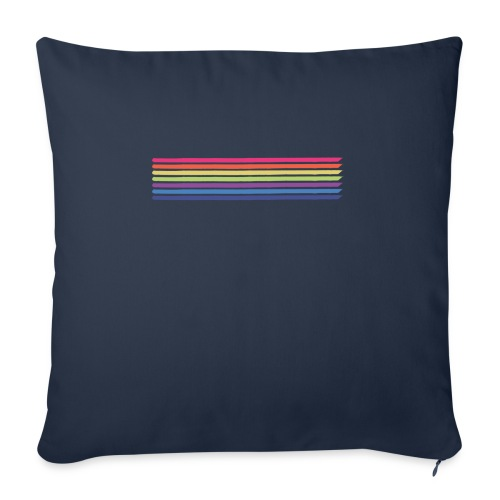 Colored lines - Sofa pillow with filling 45cm x 45cm