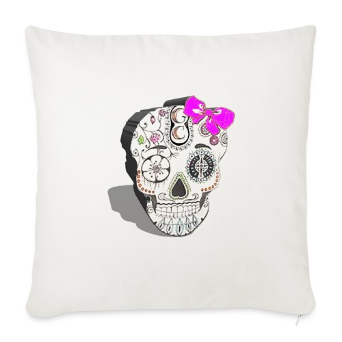 Tête de mort mexicaine 3D - Coussin et housse de 45 x 45 cm