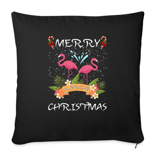 Merry Christmas Flocking - Sofa pillow with filling 45cm x 45cm