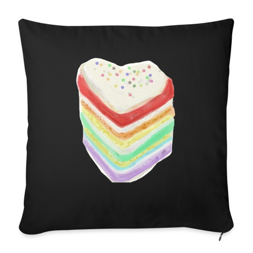 Multicolor Cake 1 - Sofa pillow with filling 45cm x 45cm
