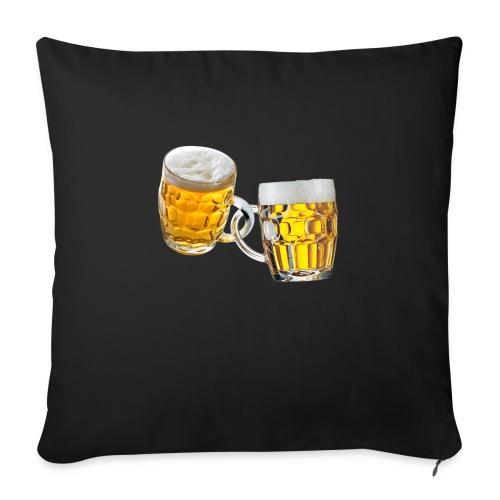 Boccali di birra - Cuscino da divano 44 x 44 cm con riempimento