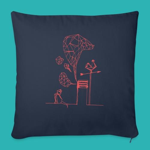 Carta_gatta_pink-png - Cuscino da divano 44 x 44 cm con riempimento
