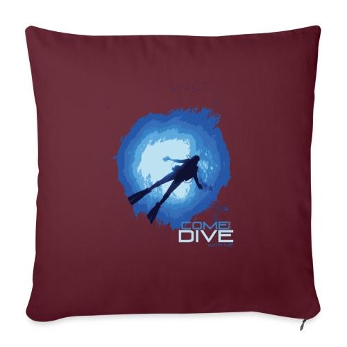Come and dive with me - Poduszka na kanapę z wkładem 44 x 44 cm