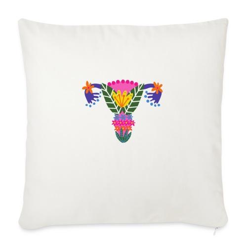 Uterus feminine - Poduszka na kanapę z wkładem 44 x 44 cm