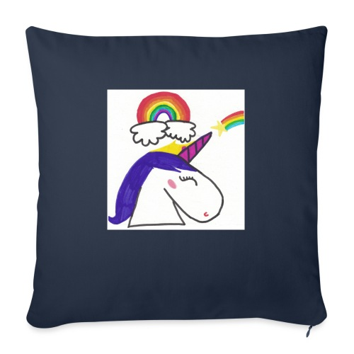 Unicorno arcobaleno - Cuscino da divano 44 x 44 cm con riempimento