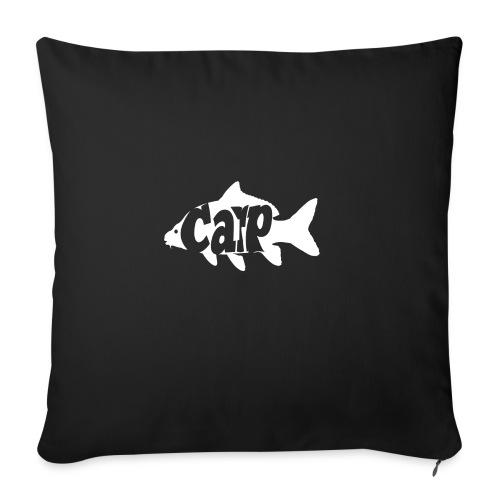 carp fish - Bankkussen met vulling 44 x 44 cm