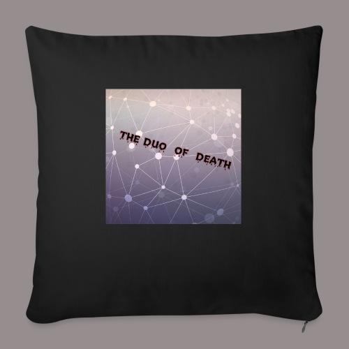 The duo of death logo - Bankkussen met vulling 44 x 44 cm