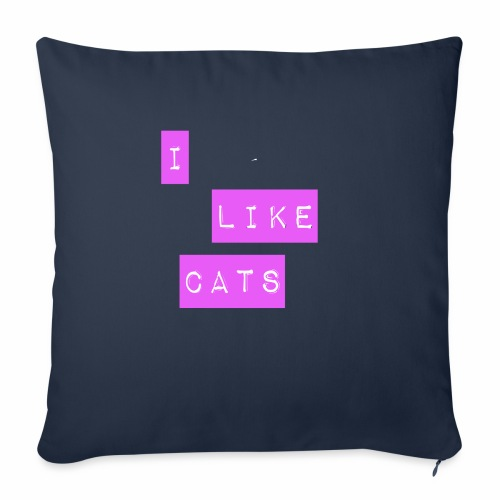 I like cats - Sofa pillow with filling 45cm x 45cm
