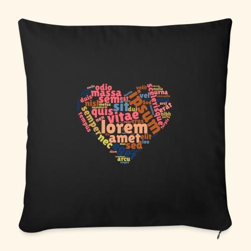 Lorem Ipsum Heart - Sofa pillow with filling 45cm x 45cm