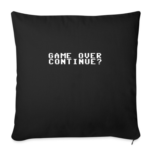 Offisiell Tullerusk Merch: Game over continue? - Sofapute med fylling 44 x 44 cm