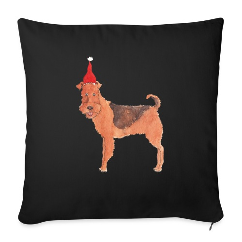 Airedale terrier Christmas - Sofapude med fyld 44 x 44 cm