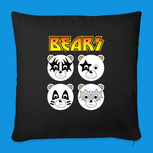 Kiss Bears square.png - Sofa pillow with filling 45cm x 45cm