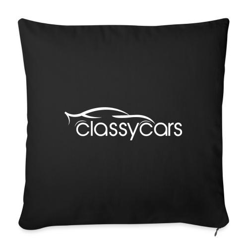 ClassyCars White Logo - Cuscino da divano 44 x 44 cm con riempimento