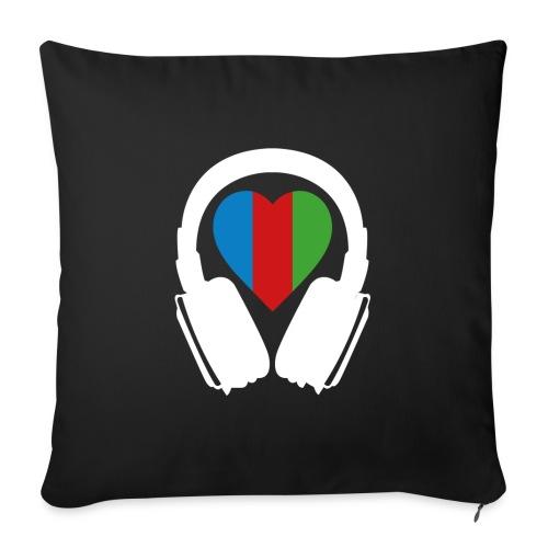 Silent Disco Headphone > Heart | white - Sofakissen mit Füllung 44 x 44 cm