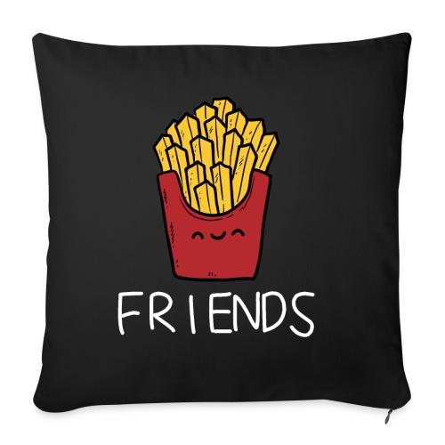 Burger und Pommes Best Friends Partnerlook - Sofakissen mit Füllung 44 x 44 cm