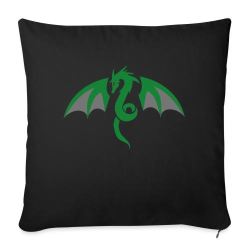 Red eyed green dragon - Bankkussen met vulling 44 x 44 cm