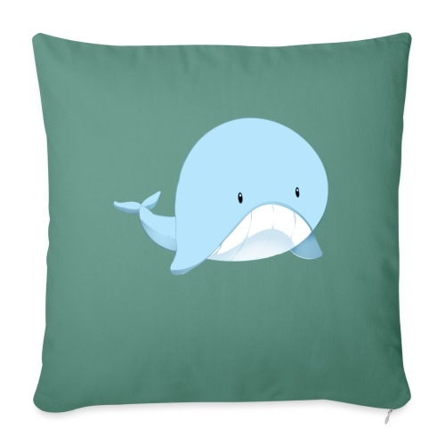Whale - Cuscino da divano 44 x 44 cm con riempimento