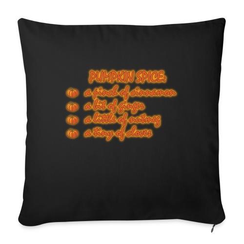 PumpkinSpiceRecipe - Cuscino da divano 44 x 44 cm con riempimento