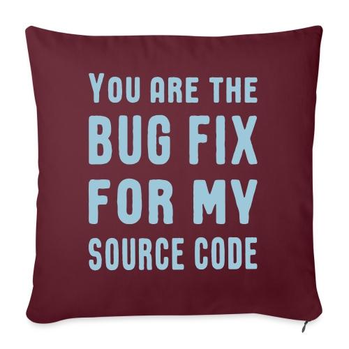 Programmierer Beziehung Liebe Source Code Spruch - Sofakissen mit Füllung 44 x 44 cm