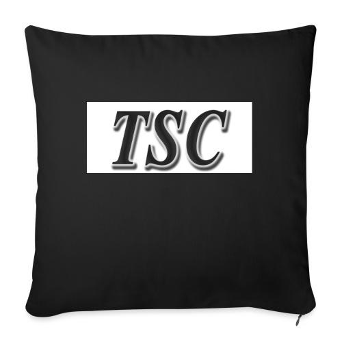 TSC Black Text - Sofa pillow with filling 45cm x 45cm