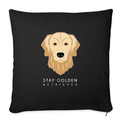 Golden Retriever - Cuscino da divano 44 x 44 cm con riempimento